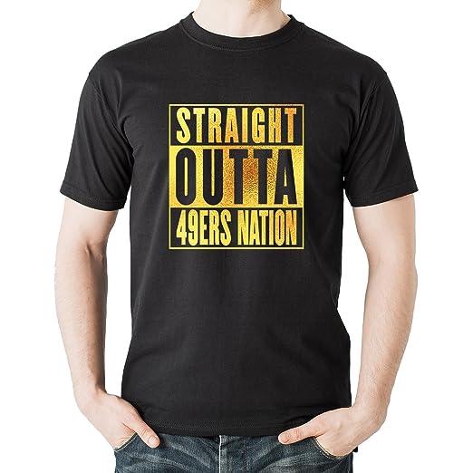 sale retailer 48c80 5d06f Amazon.com: DEVILE Straight Outta 49ERS Nation Black Color T ...