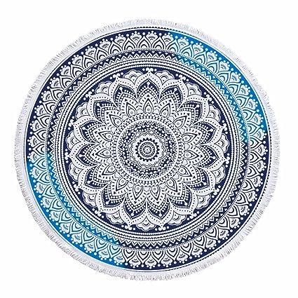 XXSZKAA/Toalla De Playa Vintage Impresa Redonda/Manta De Picnic Fresca Mandala/Mantel