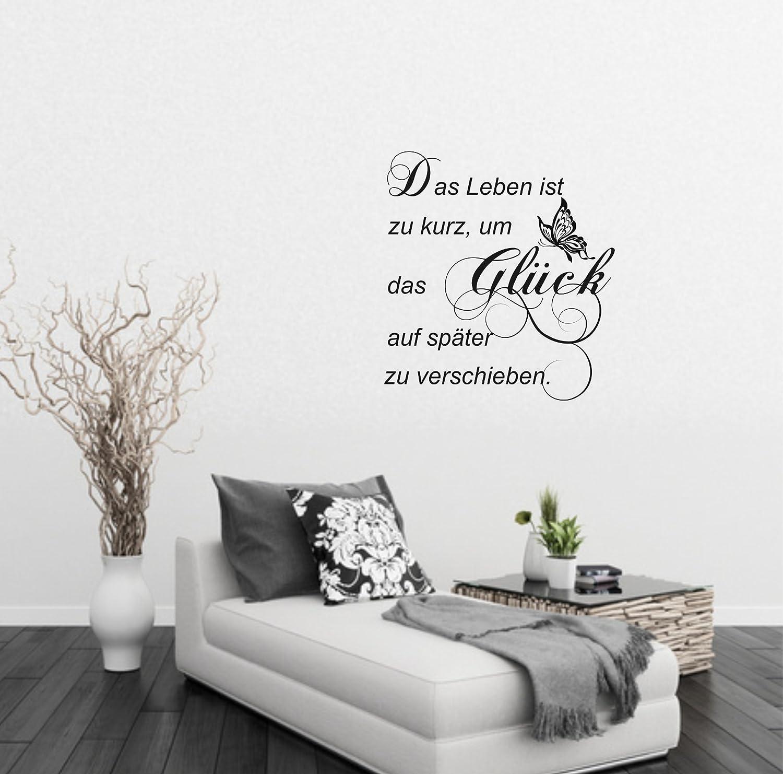 Greenluup ökologisches Wandtattoo Ranke Ornament Spruch Glück In Creme  Schmetterlinge: Amazon.de: Küche U0026 Haushalt