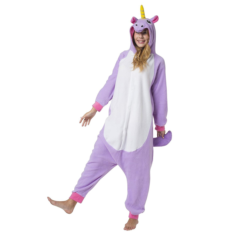 175-185cm Unicorno Nero Katara 1744 Kigurumi Unisex Adulti Costume Animale Pigiama intero Carnevale