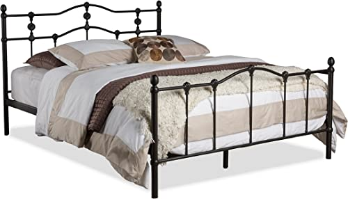 Baxton Studio Wholesale Interiors Wendy Shabby Iron Metal Platform Bed, Queen, Dark Bronze