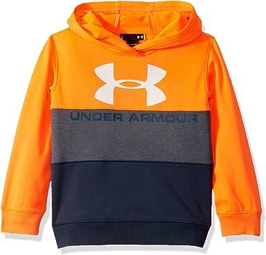 Under Armour Niños Sudadera con capucha y bolsillo Manga Larga camisa - Naranja - 24 meses: Amazon.es: Ropa y accesorios