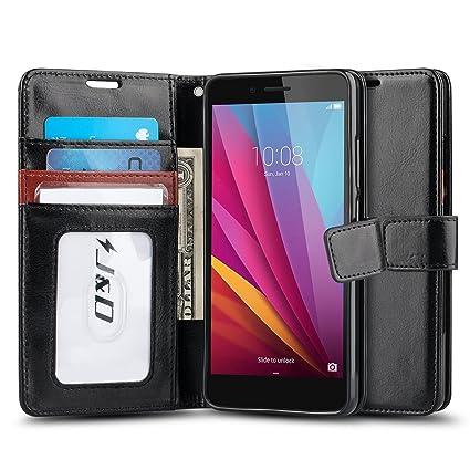 Amazon.com: Huawei Honor 5 X Caso, [Soporte y Tarjetero ...