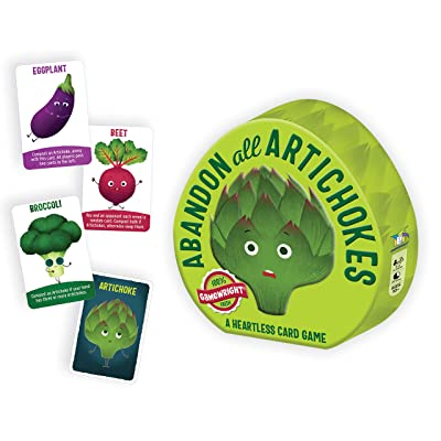 Gamewright Abandon All Artichokes Tin - A Heartless Card Game: Toys & Games