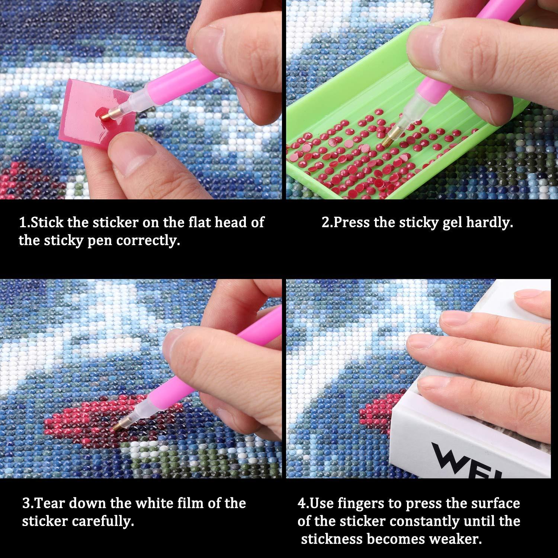 Rose Red Kalolary 60 Slot Diamond Painting Storage Case Tool Diamond Painting Bag Beads Display Organizer Boxes 60 Grids Storage Boxes Shockproof Durable High Capacity Hand Bag Zipper Design