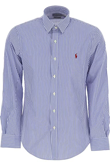 Ralph Lauren - Chemises - Chemise rayé Bleu - Taille XL  Amazon.fr ... 610eddfadb71