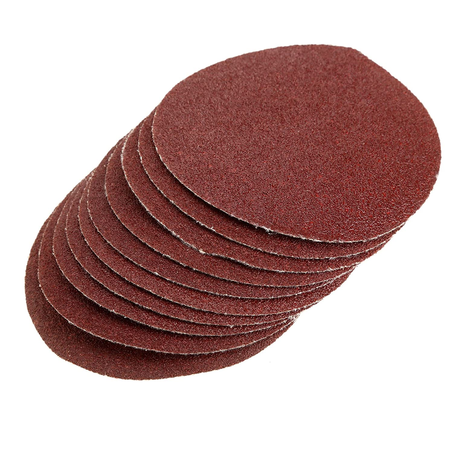 50Pcs NO-Hole Sanding Paper Sandpaper Finishing Discs for Woodworking Metal Finishing Abrasive Paper Pads 60 Grit