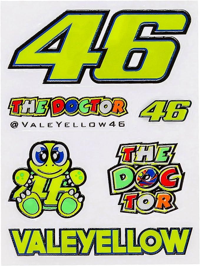 Valentino Rossi Vr46 Sticker Set Small Sport Freizeit