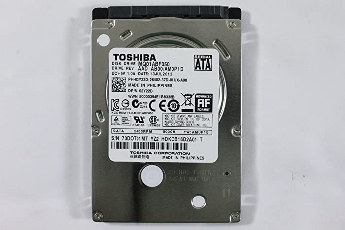"""Dell 2Y22D MQ01ABF050 2.5"""" SATA Thin 500GB 5400 Toshiba Laptop Hard Drive Latitude E6420"""