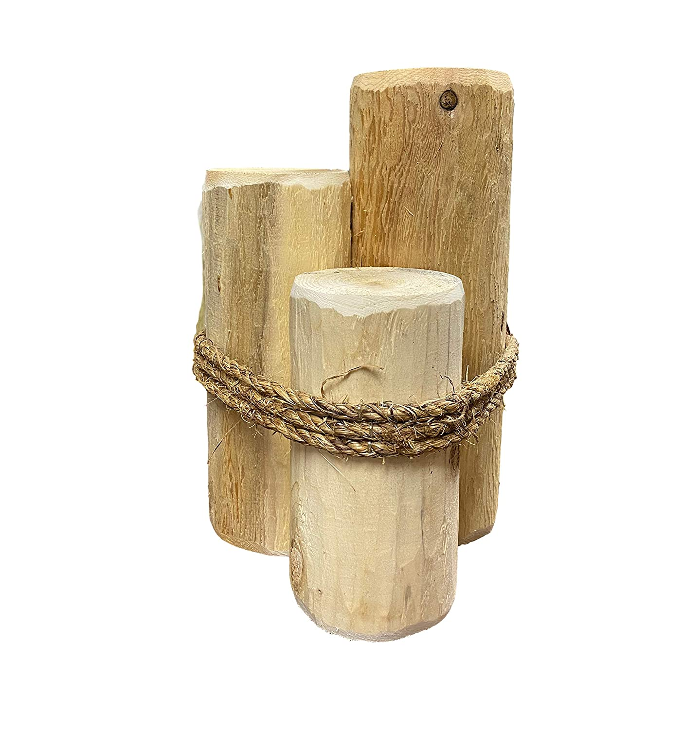 Cedar Wood Piling Pier Post 15 Tall Coastal Nautical Decor