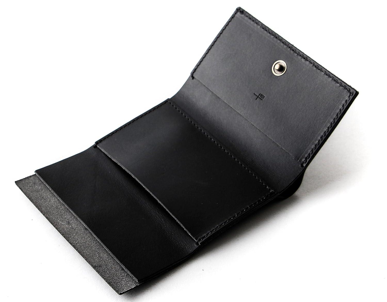 エムピウ ストラッチョ straccio コンパクト財布 三つ折り財布 リスシオ ブッテーロ 財布 m+ B06VY15TTN ブラック ブラック