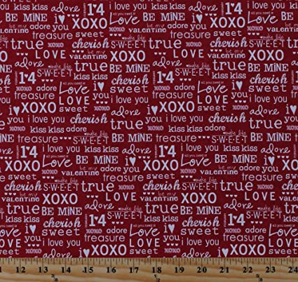 Amazon Com Cotton Valentine S Day Words Sayings Phrases Hearts Xoxo
