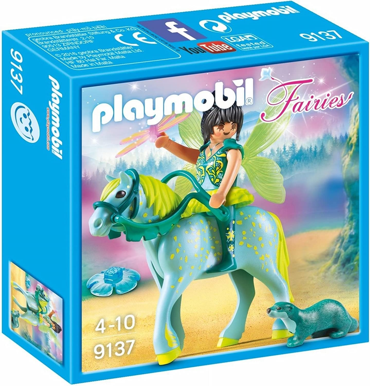 Playmobil animals SET OF 2 IDENTICAL HORSES FANCY CARRIAGE FLOWERS DRIVER