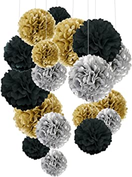Wedding Decoration Birthday Party Glitter Pompom Tissue Flower Paper Ball