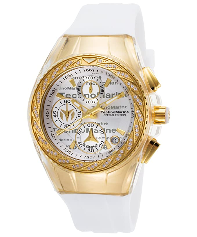 Amazon.com: Technomarine TM-115384 Womens Cruise Glitz Quartz Gold Chronograph: Watches