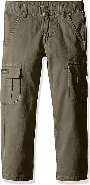 Pants Boys Black Cargo Pants Adjustable Waist Pocket Style Sizes 4 New