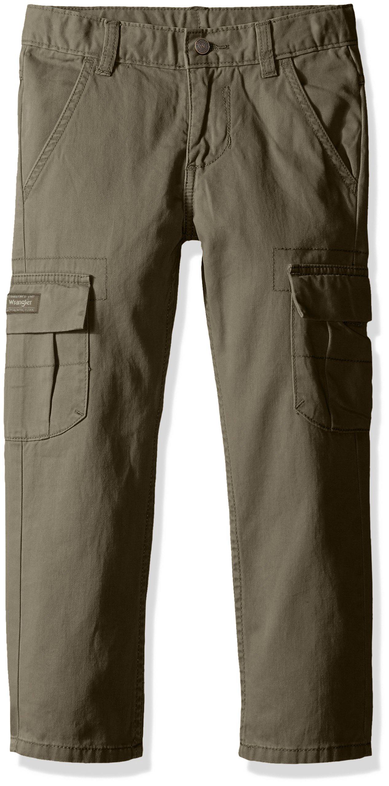 Wrangler Authentics Boys' Classic Cargo Pant, olive, 16 by Wrangler