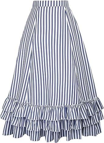 Belle Poque BP354 - Falda gótica para mujer, estilo vintage, para ...
