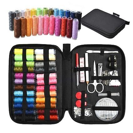 Tuxwang Kit Couture Kit De Couture Avec Accessoires De Couture Premium 90pcs Avec étui De Transport 24 Bobines De Fil 1 Paquet D Aiguilles De