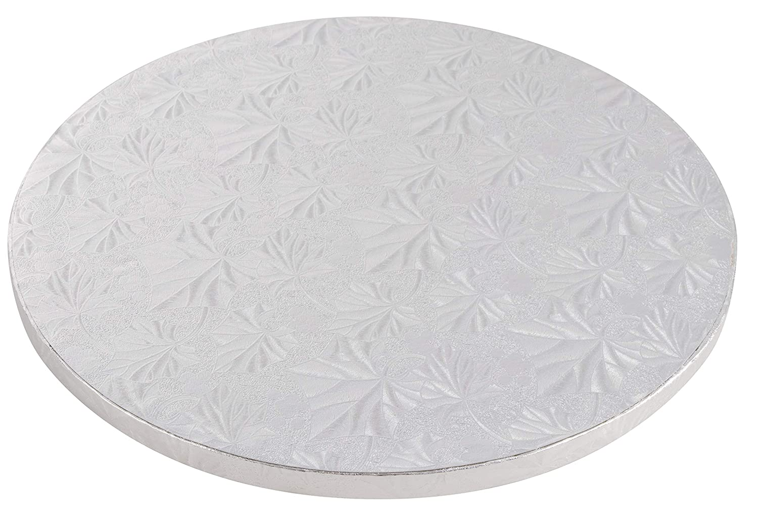 3 Piece Set of Silver Foil Pizza Base Disposable Drum Circles 12 Inch Diameter FDA approved Corrugated Paper Board Cake Cardboard Rounds