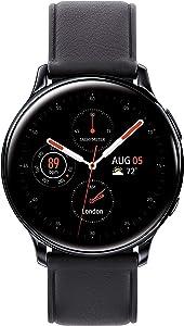 Samsung Galaxy Watch Active2 (40mm), Black (Stainless Steel - LTE Unlocked) - SM-R835USKAXAR (US Version & Warranty) (Renewed)