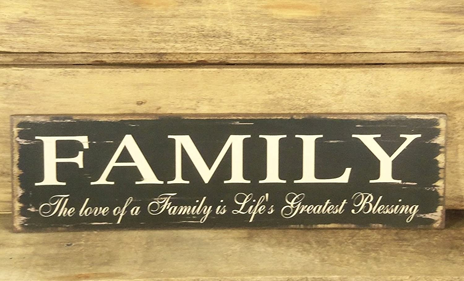 Amazon.com: Family Blessing Wood Sign - The Love of a Family is ...
