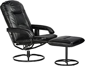 Comfort Products Leisure Recliner Chair with 10-Motor Massage & Heat, Black