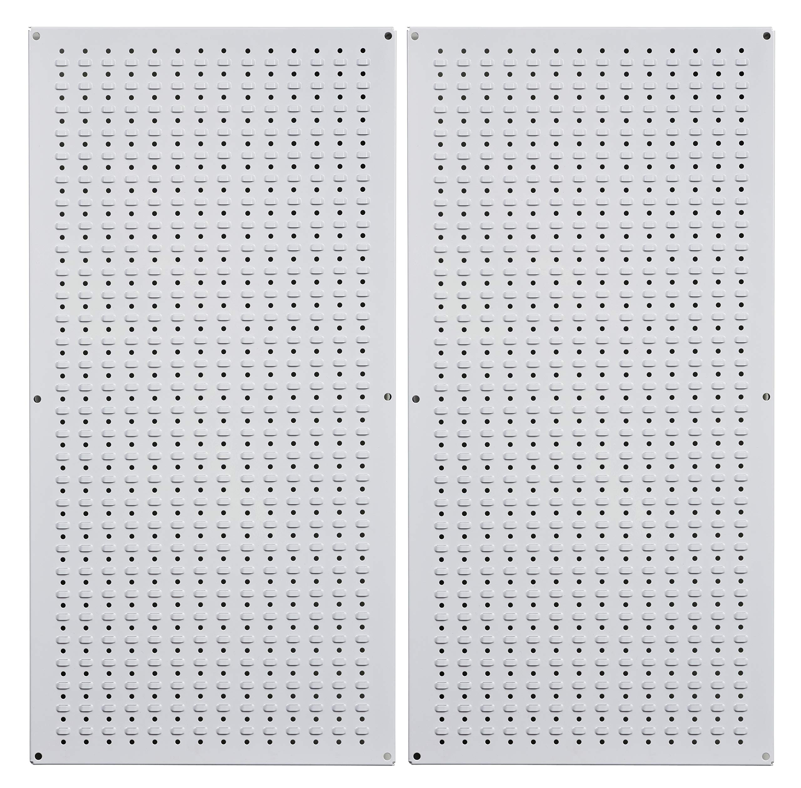 Muscle Rack CPB2-WT Steel Pegboard 2 Pack, White, 32'' Height, 16'' Width, 1'' Length