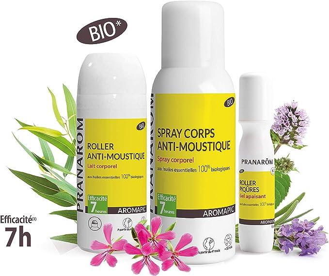 Pranarôm Aromapic- Spray corps Bio Anti-moustique 75ml: Amazon.es: Salud y cuidado personal