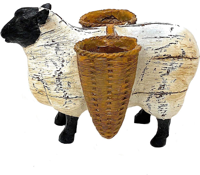 Melrose Standing Animal Planter Figurines Farmhouse Decor Rustic Sculpture (Sheep)