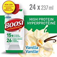 BOOST High Protein Vanilla Meal Replacement Drink, 24 x 237ml - PACKAGING MAY VARY