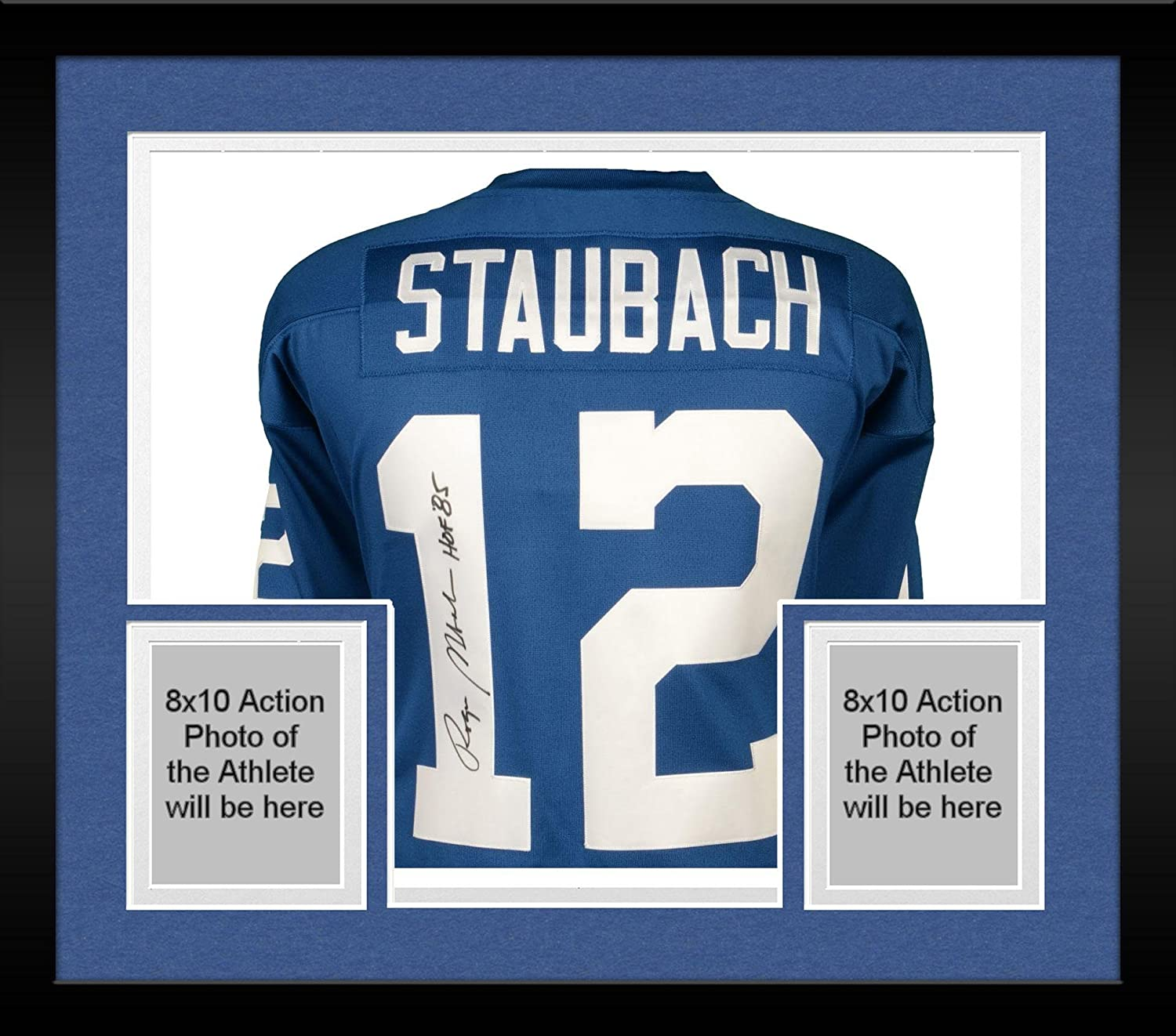 b8eb7d105d1 Framed Roger Staubach Dallas Cowboys Autographed Blue Authentic Mitchell &  Ness Jersey with