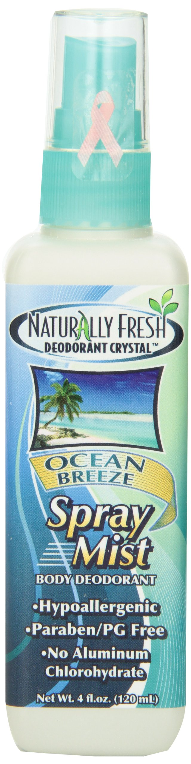 Naturally Fresh Deodorant, Spray Mist, Ocean Breeze, 4-Ounce Bottles (Pack