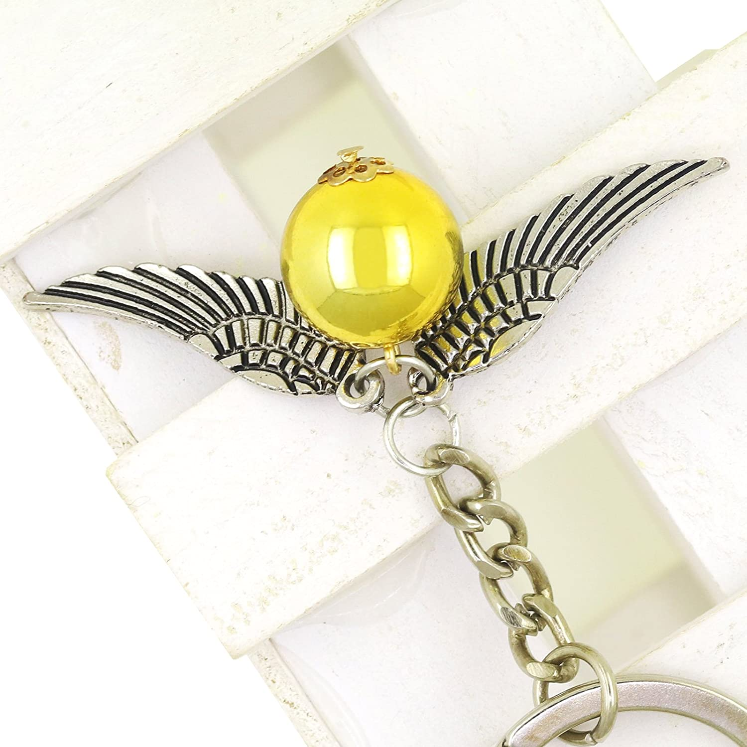 Llavero Harry Potter Snitch dorada clave cadena peltre Harry ...