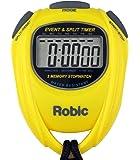 ساعة Robic SC-539 ذاكرة مقاومة للماء مناسبة للتوقف ووقت الانقسام ، أصفر
