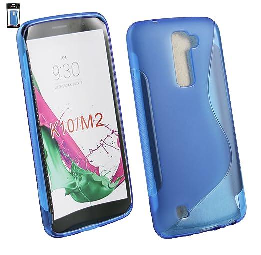 30 opinioni per Emartbuy® LG K10 ( 2016 ) Ultra Sottile Case Cover Custodia In Gel Blue