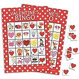 Valentine's Day Bingo Game for Kids - 24 Players