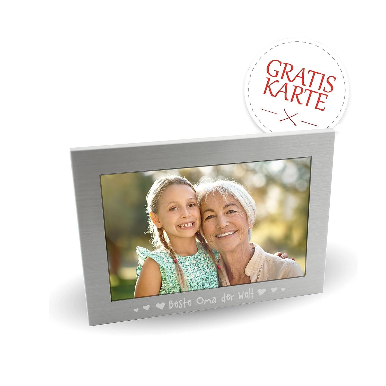 Oma Geschenk * Bilderrahmen 15x18 cm als Geschenk für Oma + GRATIS ...