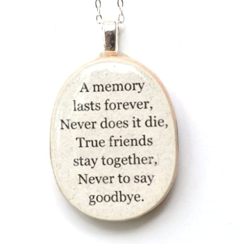 Amazon.com: Best friend quote necklace. Going away gift for ...