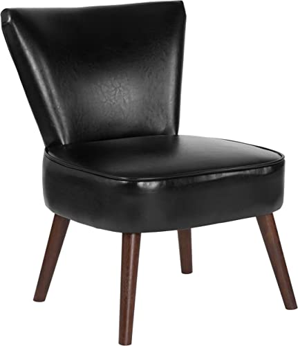 Flash Furniture HERCULES Holloway Series Black Leather Retro Chair