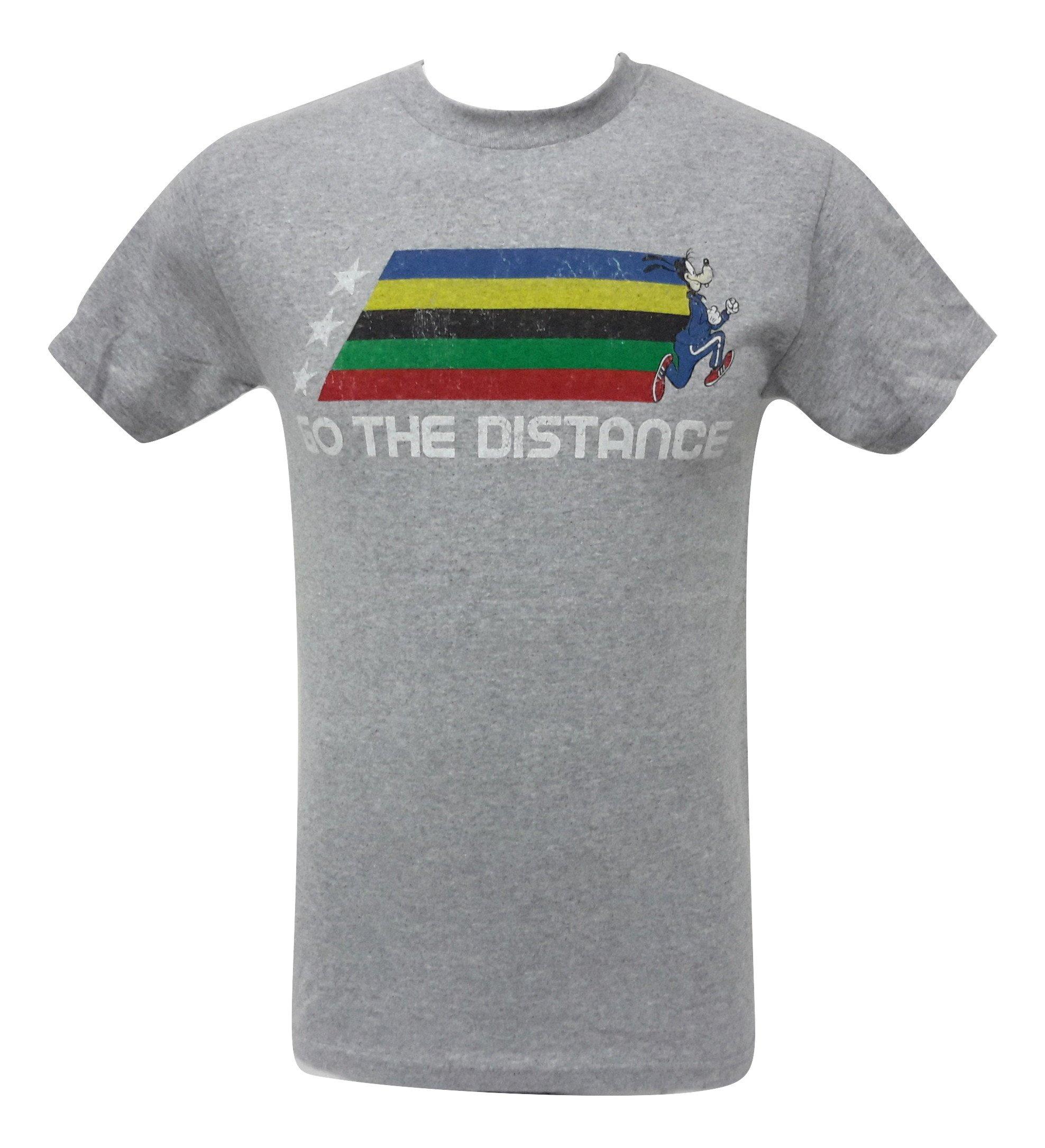 Disney - Goofy Go The Distance 2016 Rio Olympics Gray T Shirt