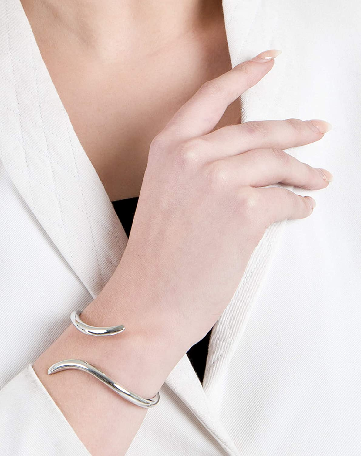 Perfect For Daily Wear Gifts For Women and Girls Stainless Steel Love Angel Twisted Wrist Cuff