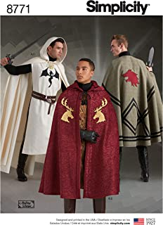 product image for Simplicity 8771 Unisex Cape and Tabard Cosplay and Ren Faire Costume Sewing Pattern, 5 Pieces, One Size