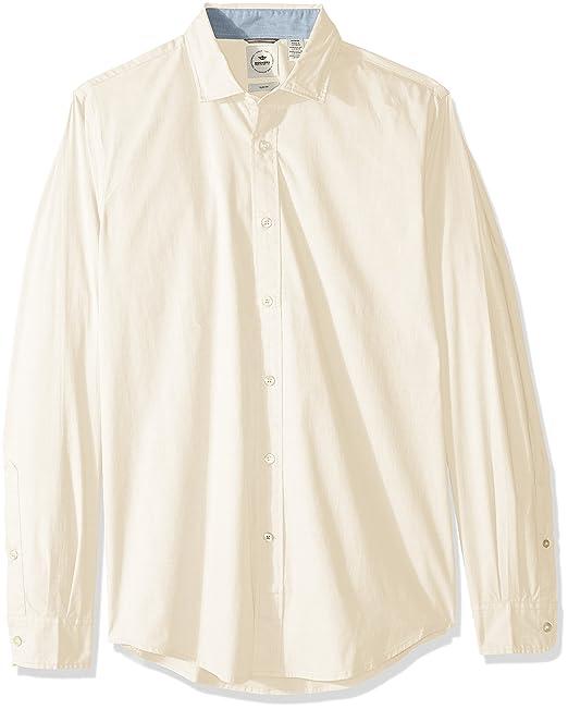 e217051b1a0 Dockers Men s Slim Refined Poplin Long Sleeve Button Front Woven Shirt