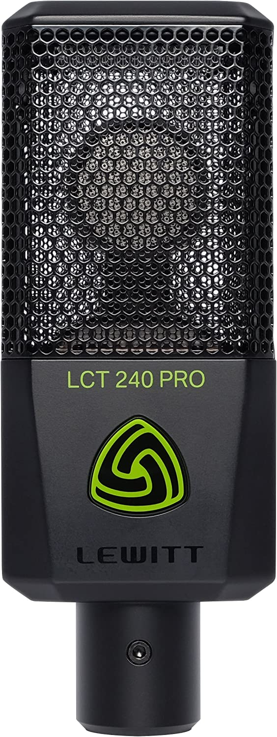 Lewitt LCT-240 Pro Black Microphone w// Stand Mount /& Windscreen LCT240
