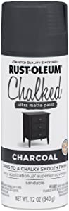 Rust-Oleum 302590 Chalked Spray Paint, 12 oz, Charcoal/Gray