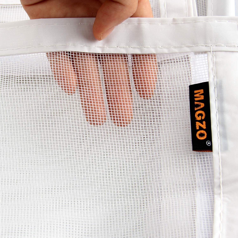 Large Door Magnetic Mesh with Heavy Duty Fits Door Size up to 24x80 Max-White MAGZO Magnet Screen Door 24 x 80