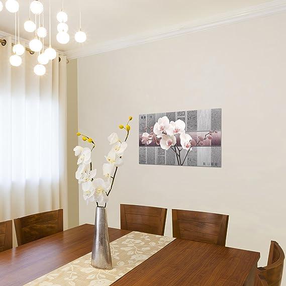 100 x 40 cm /D/écoration pour Salon/ Image/ B /Facile suspendre-800712/+ 55P /XXL Tableaux Fleurs/ /D/écoration murale/ /Non-tiss/é de toile/