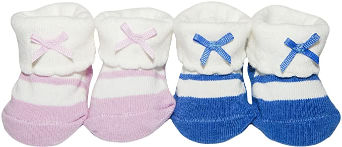 c93c00aa0 Image Unavailable. Image not available for. Color: Carters Baby Girls 2-pk.  Keepsake Booties ...