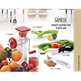 Ganesh Plastic Juicer Combo, 4-Pieces, Multicolour Graters & Slicers at amazon